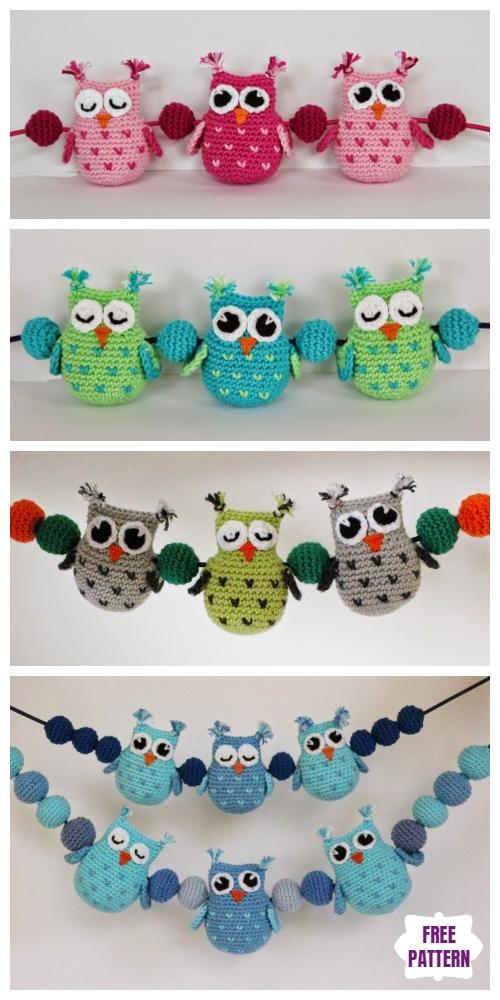 Crochet Heart Stitch Owl Amigurumi Free Patterns