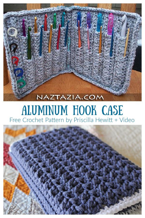 Aluminum Hook Case Free Crochet Patterns + Video