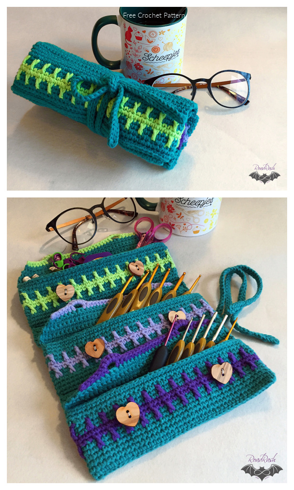 In-Between Crochet Hook Organizer Free Crochet Patterns