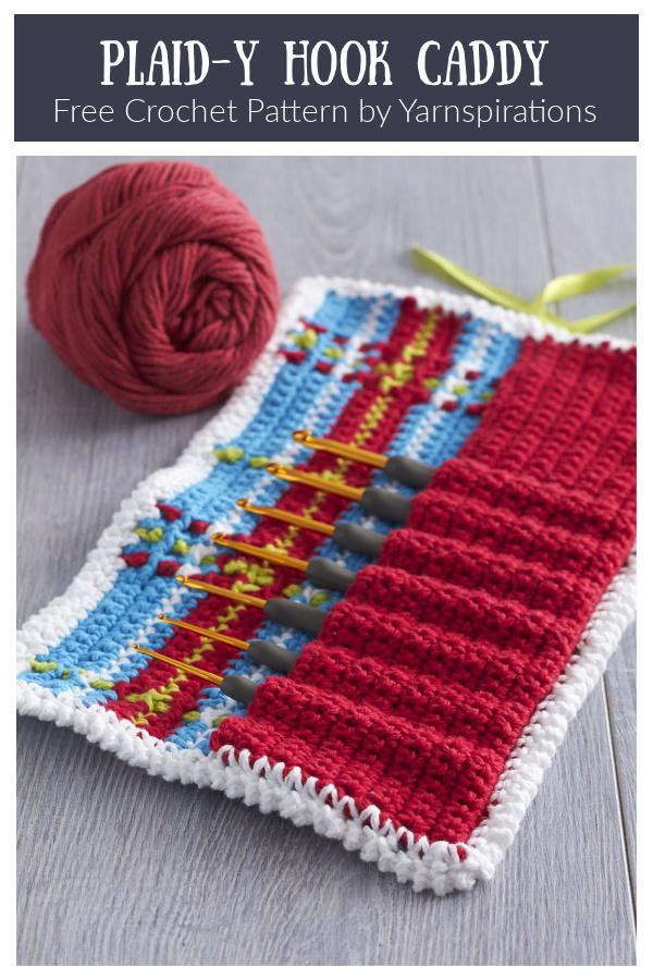 Plaid-y Hook Caddy Free Crochet Patterns