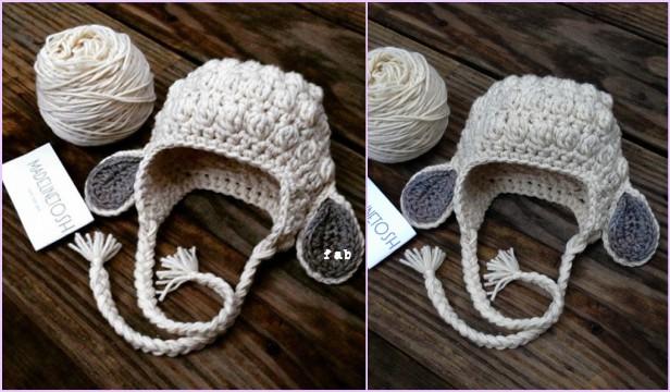 c6513afe946 Crochet Kids Bobble Lamb Hat Free Pattern