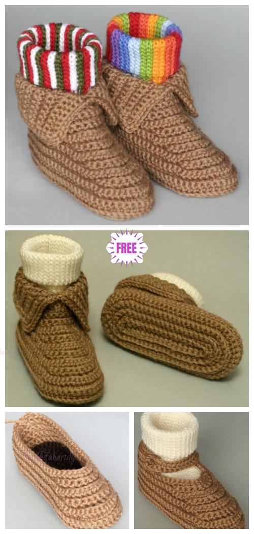 Crochet Soccasins Boots Shoe Free Crochet Pattern