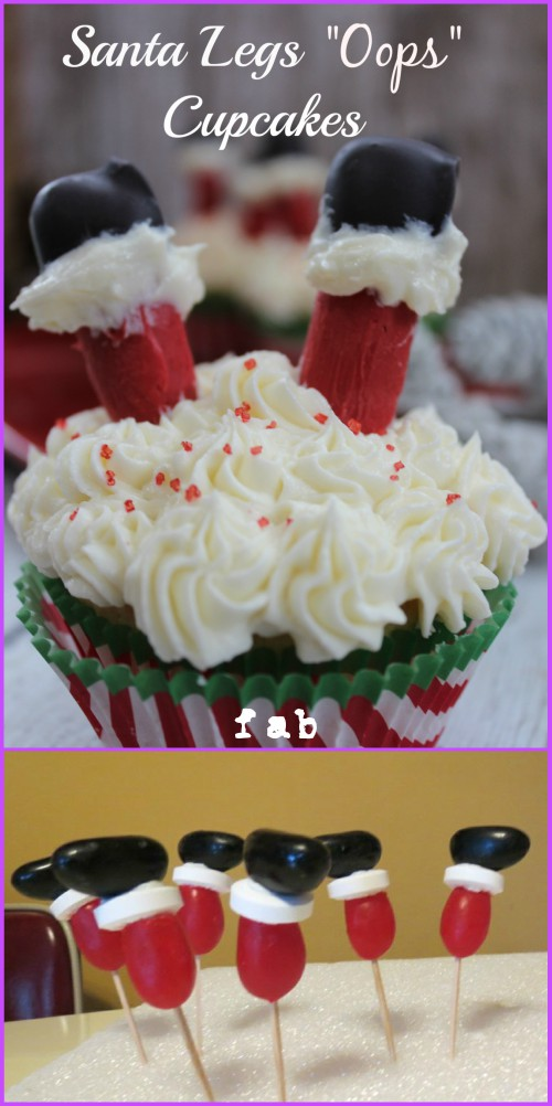 DIY Santa Leg Cupcakes Tutorial