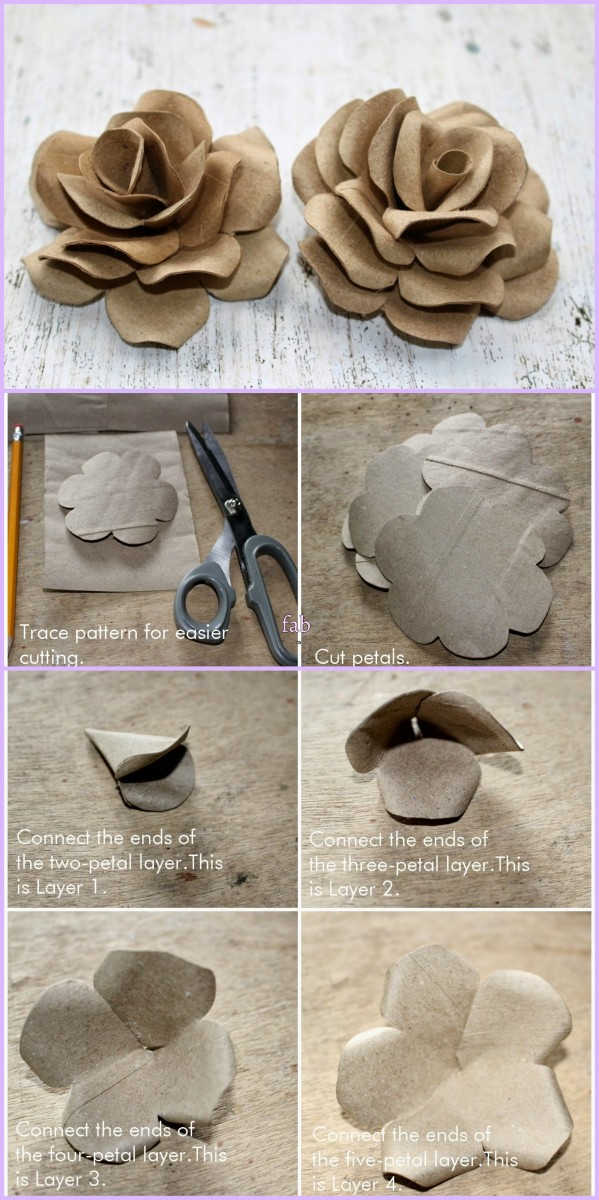 DIY Toilet Paper Roll Rose Flower Tutorial