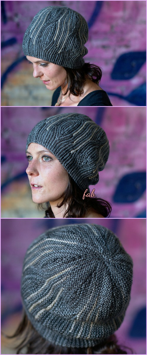 Knit Elemental Opal Beanie Hats Pattern