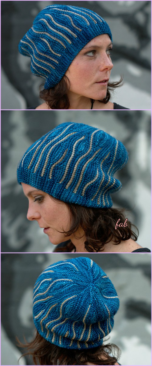 Knit Elemental Katara Beanie Hats Pattern