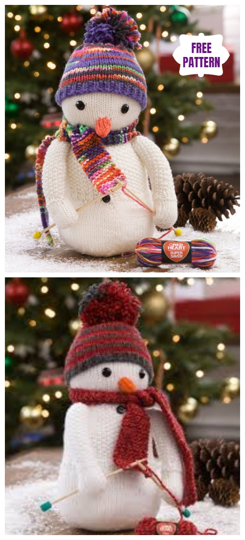 Knit Snowman Amigurumi Free Knitting Patterns