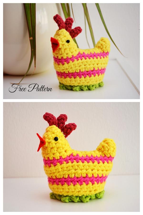 Crochet Easter Chicken Egg Cosy Set Free Crochet Patterns