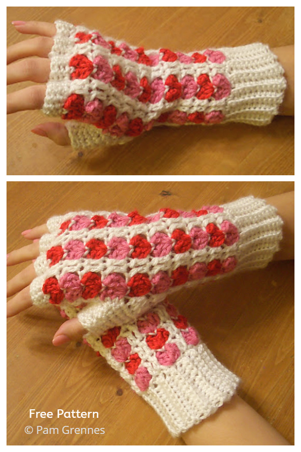 Scrap Heart Fingerless Gloves