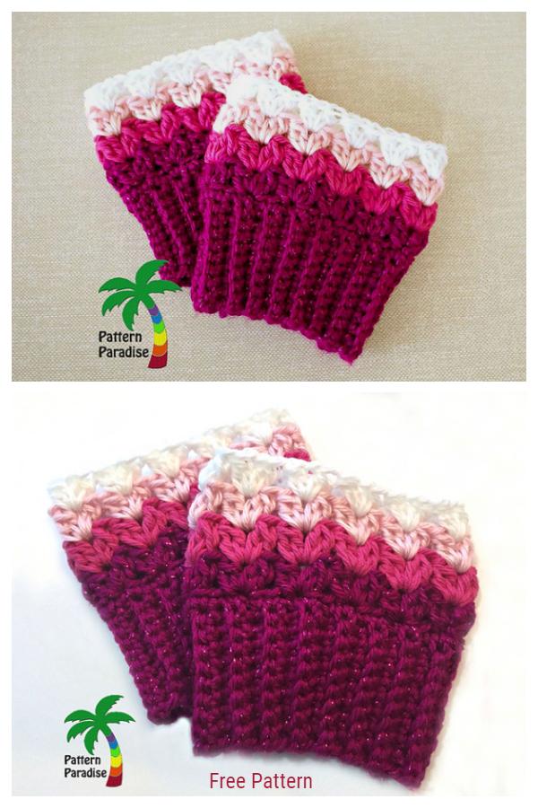 Crochet Sweetheart Boot Cuffs Free Crochet Pattern