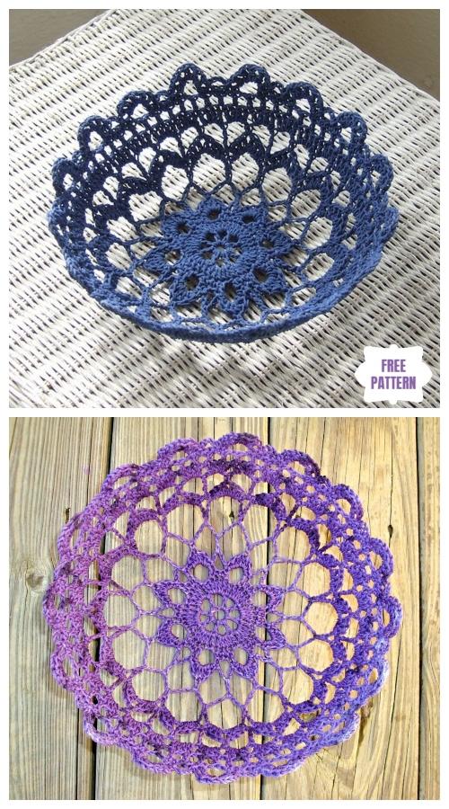 Crochet Lace Bowl Free Patterns - Crochet Filigree Bowl Free Pattern