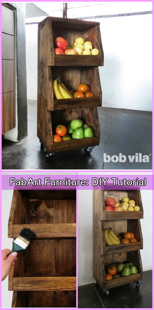 DIY Kitchen Storage Rolling Cart Tutorial