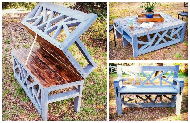 Cool Diy Outdoor 2 In 1 Convertible Bench Coffee Table Tutorial Unemploymentrelief Wooden Chair Designs For Living Room Unemploymentrelieforg