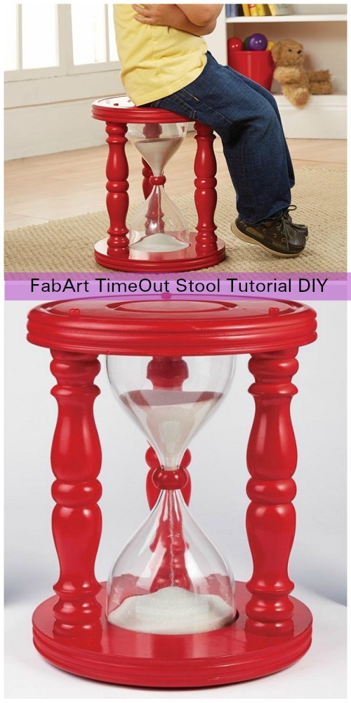 DIY Sandglass Time Out Stool Tutorial