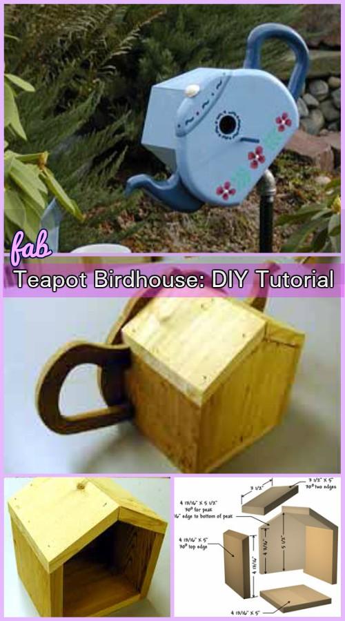 DIY Teapot Bird House Tutorial