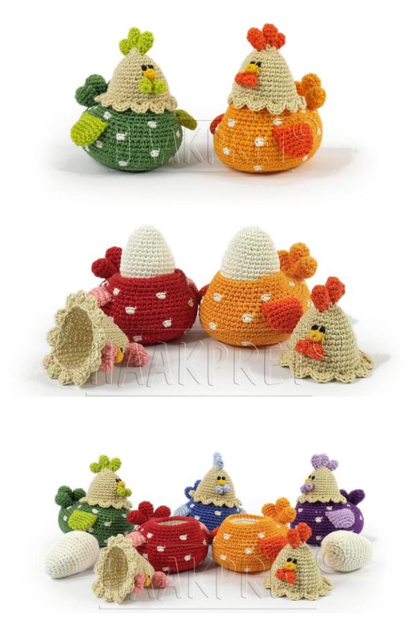 Polka Dot Egg Cups Crochet Patterns