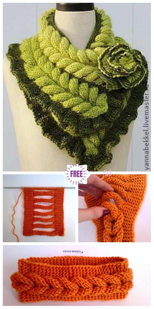 Knit Faux Braid Headband Free Knitting Pattern - Video