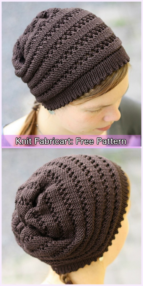 Knit Wurm Beanie Hat Modified Free Pattern