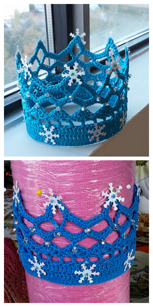Lace Royal Crown Free Crochet Pattern