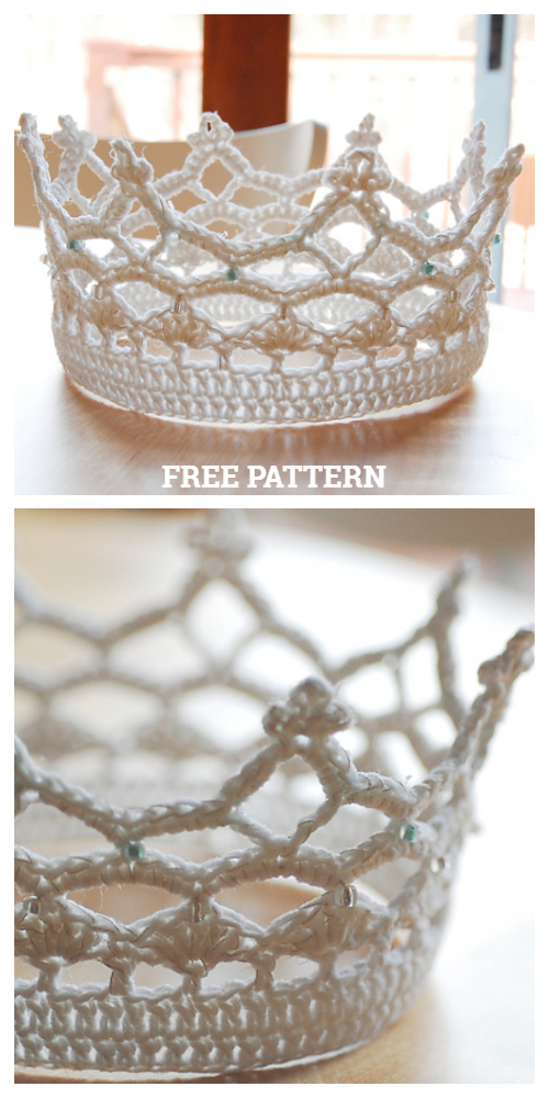 Lace Royal Crown Free Crochet Patterns