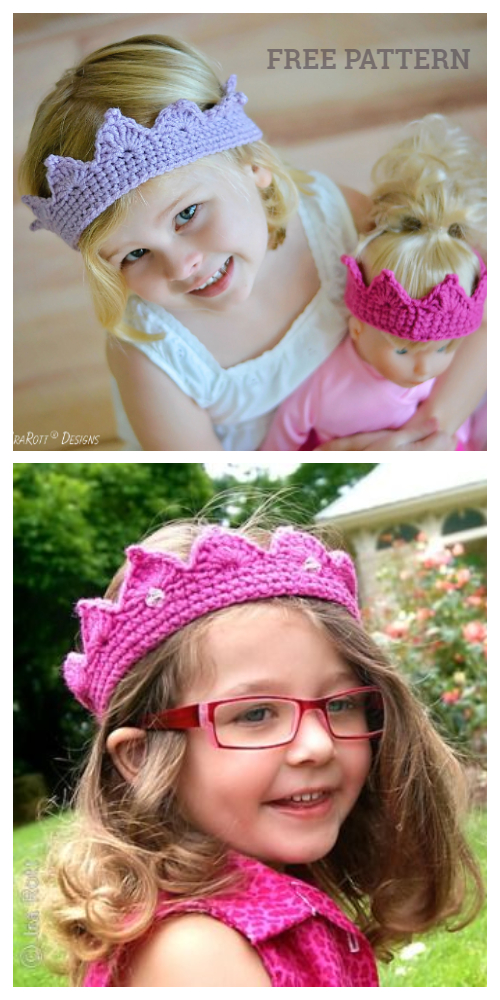 Royal Princess Crown Free Crochet Patterns