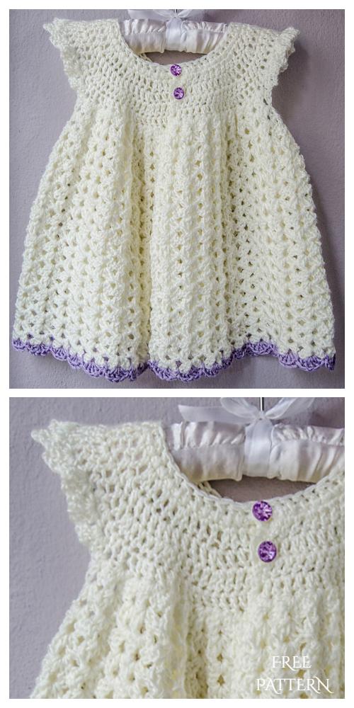 Angel Wing Baby Dress Free Crochet Patterns