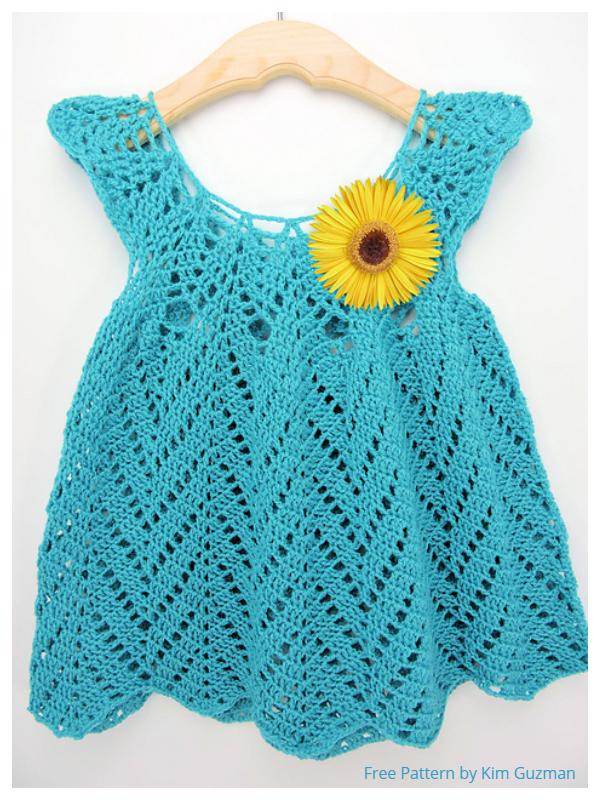 Girl's Chevron Dress Free Crochet Patterns + Video