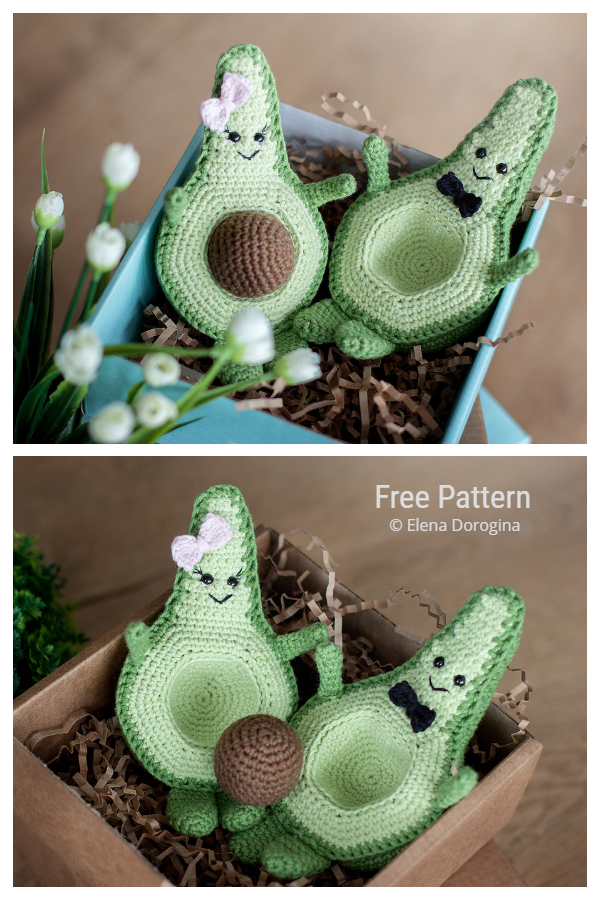 Crochet Avocado Toy Amigurumi Free Patterns