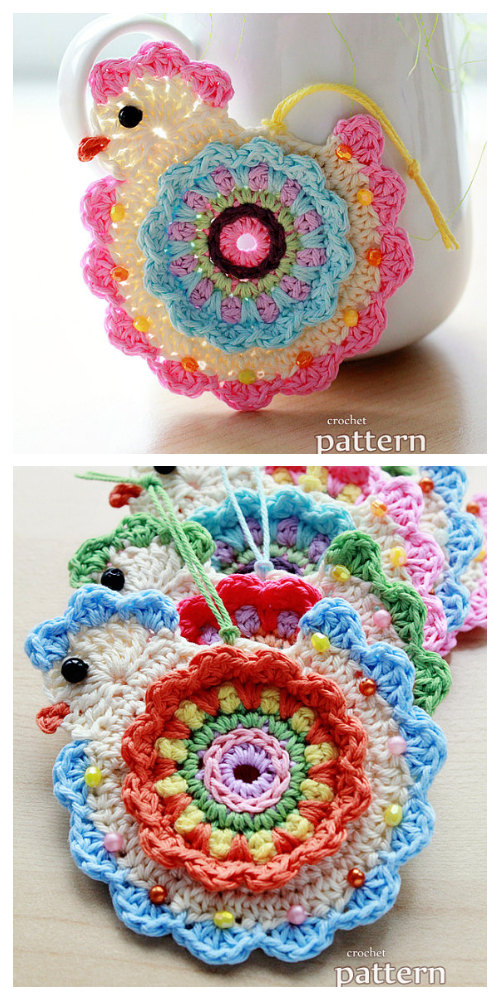 Happy Easter Chick Ornament Free Crochet Pattern &Paid