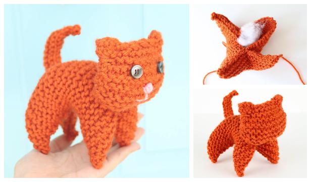Knit Plush Cat Toy Free Knitting Patterns