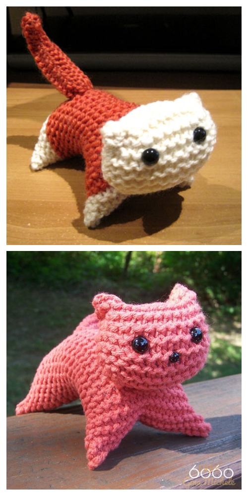 Knit Plush Cat Toy Free Knitting Patterns