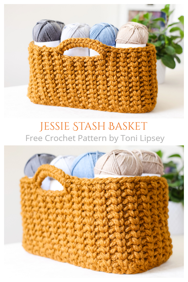 Jessie Stash Basket Free Crochet Pattern