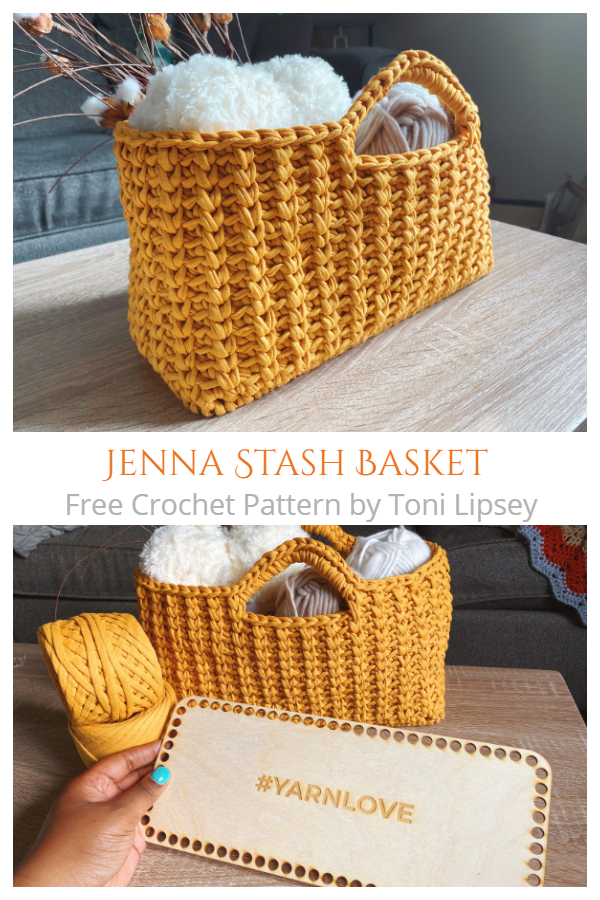 Jenna Stash Basket Free Crochet Pattern