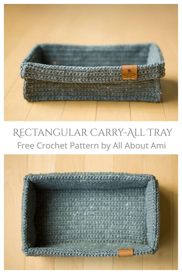Rectangular Carry-All Tray Free Crochet Pattern