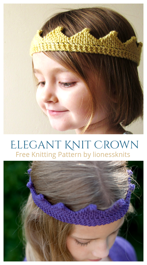 Knit Circlet Crown Free Knitting Pattern