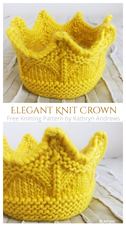 Elegant Knit Crown Free Knitting Pattern
