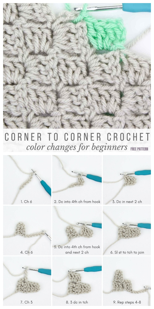 How to Crochet Corner to Corner For Beginner Tutorial