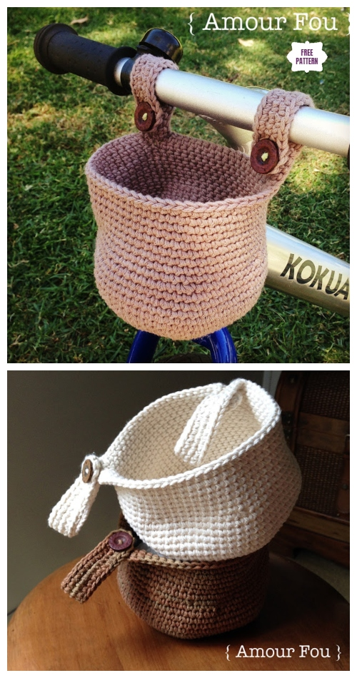Crochet Bike Hanging Basket Free Crochet Pattern