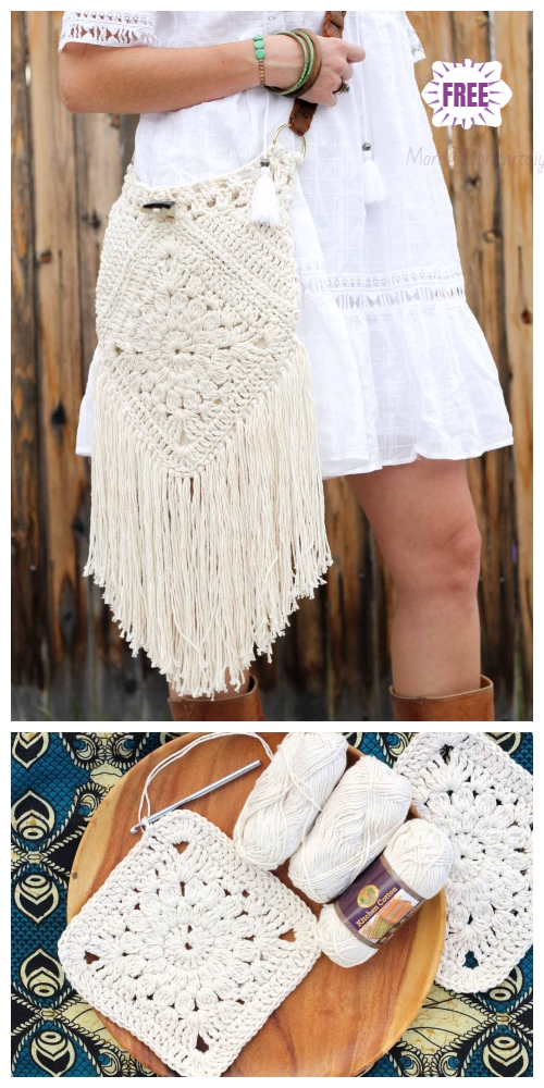 Crochet Boho Crossbody Bag Free Patterns - Crochet URBAN GYPSY BOHO BAG FREE PATTERN