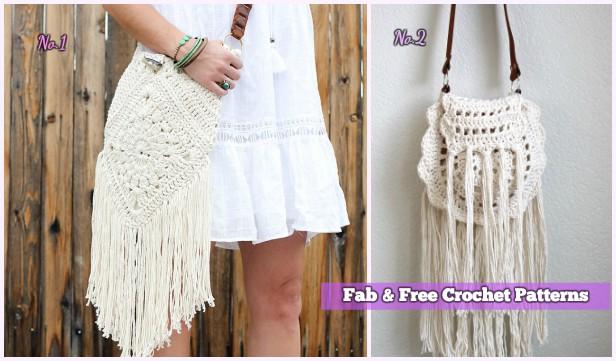 Crochet Boho Crossbody Bag Free Patterns Diy Magazine