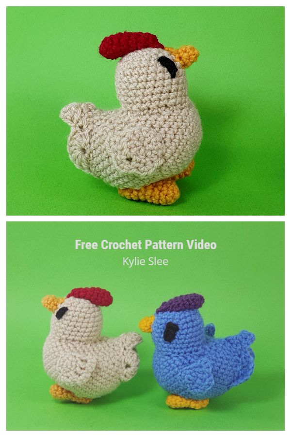 Crochet Easter Chicken Amigurumi Free Pattern Video Tutorial