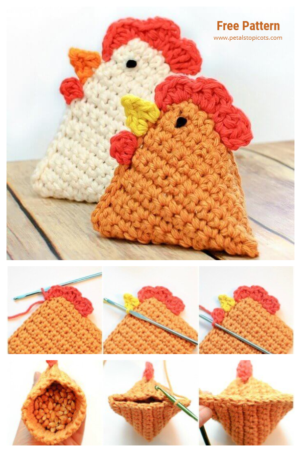 Little Chick Bean Bag Free Crochet Pattern