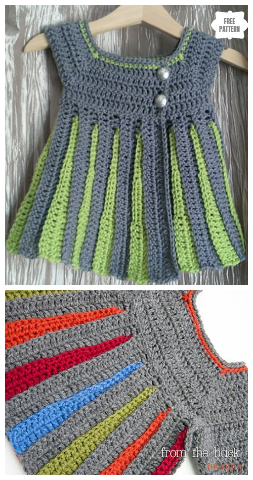Crochet Eloise Baby Sweater Cardigan Free Crochet Pattern