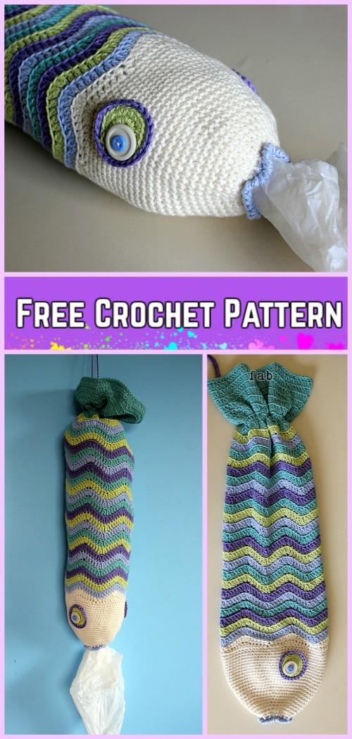 Crochet Fish Bag Free Patterns Crochet Fishie The Plastic Bag