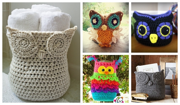 Crochet Owl Basket Free Crochet Patterns & Paid