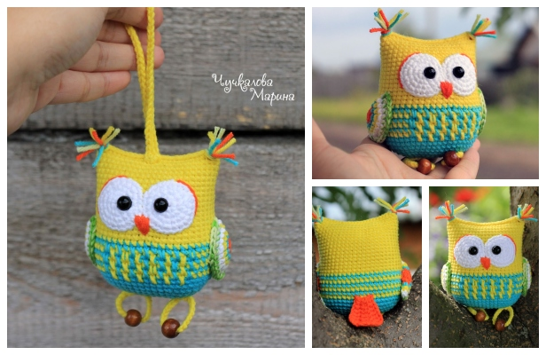 Free crochet pattern: Small amigurumi owls | 400x616