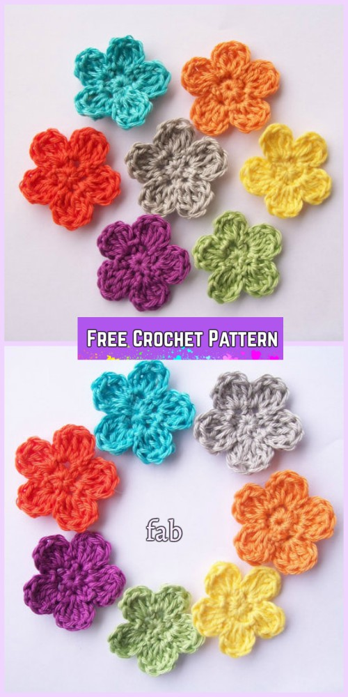 Crochet Rainbow Flower Butterfly Free Pattern - Easy Flower Posey Free Crochet Pattern