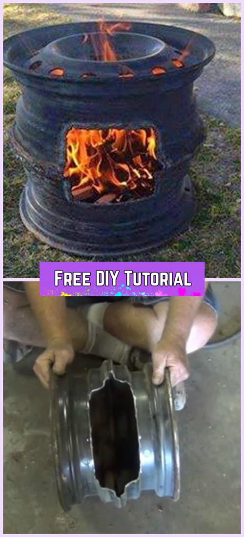 DIY Car Wheel Rim BBQ Grill Tutorial-Video
