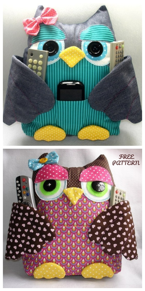 DIY Fabric Owl Buddy Organizer Free Sewing Pattern