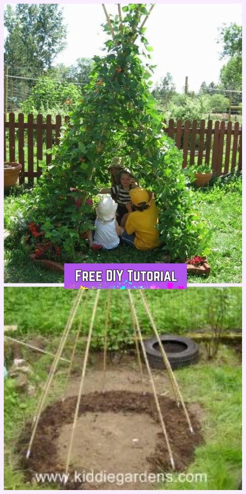 DIY Living Green Teepee Playhouse Tutorial